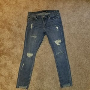 Express ankle legging mid rise jeans size 12 R